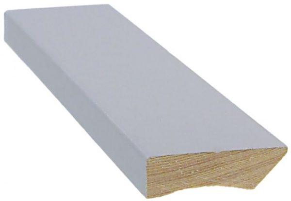 Jalkalista 12x42x3300 mm peittomaalattu harmaa