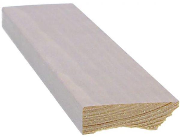 Jalkalista 12x42x3300 mm sävy valkolakattu tammi