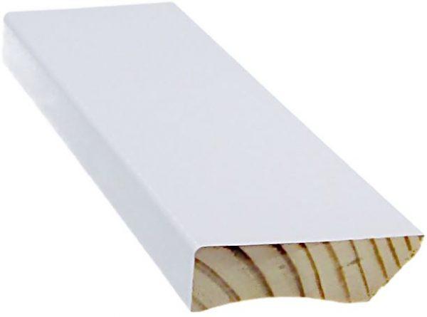 Jalkalista 12x42x3300 mm valkoinen