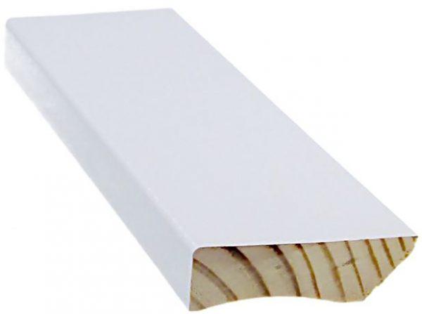 Jalkalista 12x42x3600 mm valkoinen