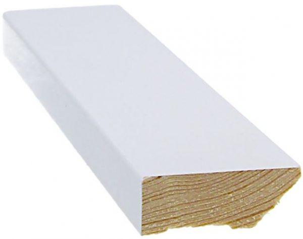 Jalkalista 15x42x3300 mm valkoinen