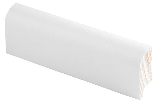 Jalkalista 15x44x2700 mm Pyörre valkoinen