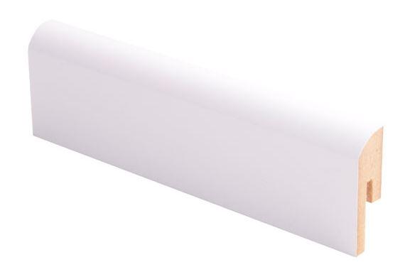 Jalkalista MDF 12x42x2750 mm puhdas valkoinen