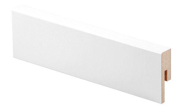 Jalkalista MDF 12x42x2750 mm valkoinen