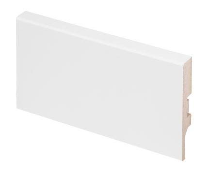 Jalkalista MDF 12x70x2750 mm valkoinen