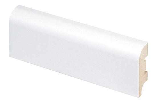 Jalkalista MDF 16x44x2750 mm valkoinen