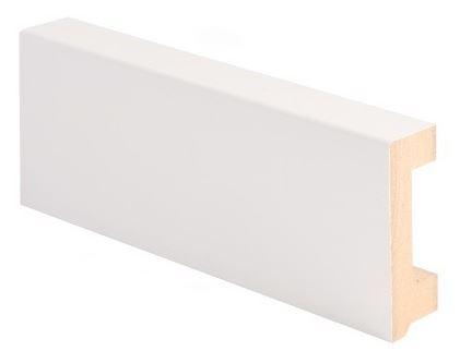 Jalkalista MDF johtoura 19x58x2750 mm valkoinen