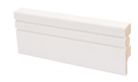 Jalkalista MDF koriste 16x58x2750 mm Jana puhdas valkoinen