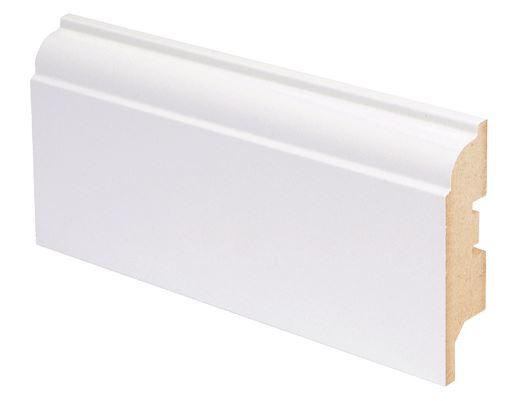 Jalkalista MDF koriste 16x65x2750 mm Koski valkoinen