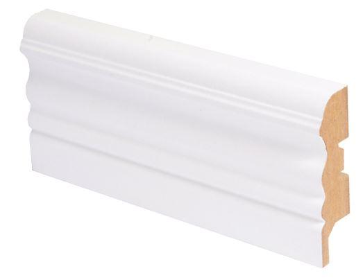 Jalkalista MDF koriste 16x65x2750 mm Laine valkoinen