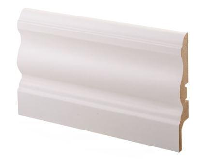 Jalkalista MDF koriste 16x92x2750 mm Laine valkoinen