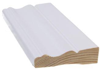 Jalkalista Siparila Kumpu 15x56x3600 mm valkoinen