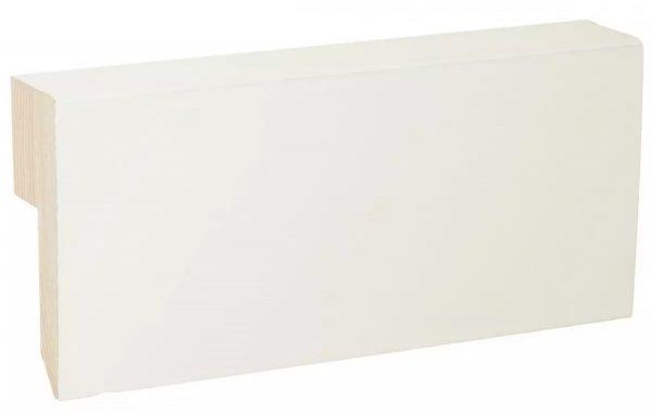 Jalkalista johtoura 20x56x3600 mm Kiille valkoinen