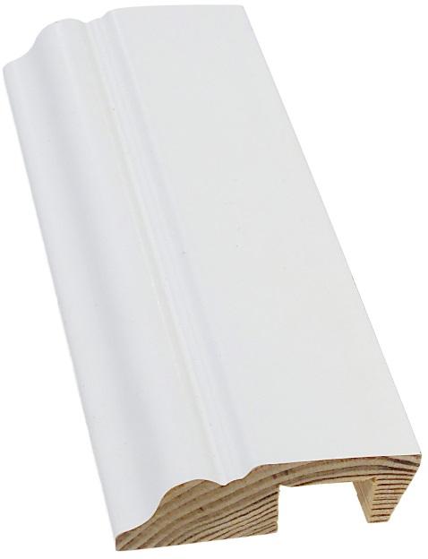 Jalkalista johtoura koriste 20x68x3600 mm valkoinen