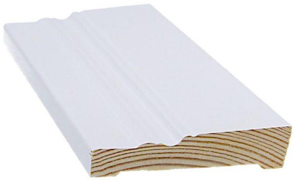 Jalkalista koriste 14x68x3300 mm Anttola valkoinen