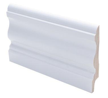 Jalkalista koriste 15x90x2700 mm Laine valkoinen