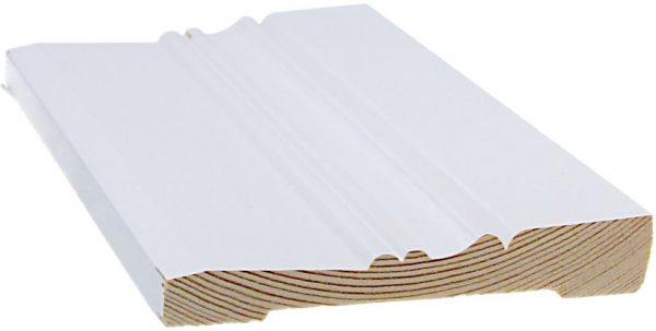 Jalkalista koriste 15x95x3300 mm Ainola valkoinen