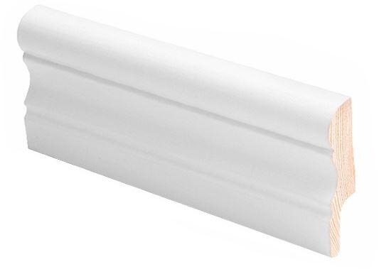 Jalkalista koriste 16x60x2700 mm Aura valkoinen
