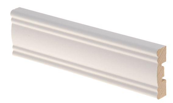 Kattolista MDF koriste 12x42x2200 mm Aura valkoinen
