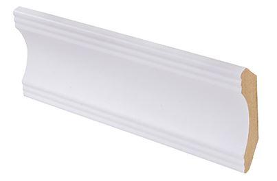 Kattolista MDF koriste 42x42x2750 mm Aura puhdas valkoinen