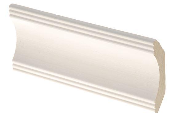 Kattolista MDF koriste 42x42x2750 mm Aura valkoinen