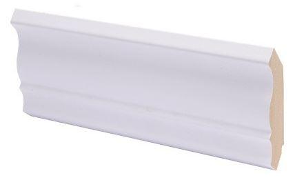 Kattolista MDF koriste 42x42x2750 mm Piirto puhdas valkoinen