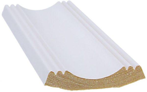 Kattolista koriste 16x63x3300 mm sisäkulmalista 150° valkoinen