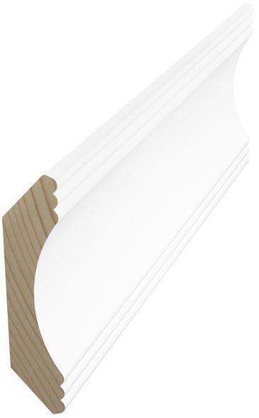 Kattolista koriste 45x45x3300 mm Aura valkoinen