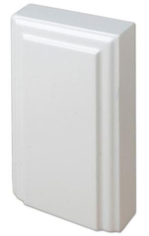 Kulmapala MDF alapala 75x125 mm maalattu valkoinen