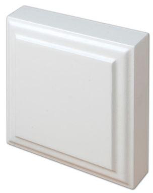 Kulmapala MDF yläpala 100x100 mm maalattu valkoinen