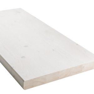 LAUDE lauta kuusi32x295x2350 mmkuultava valkoinen