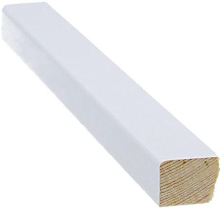 Mattolista 11x16x3300 mm valkoinen