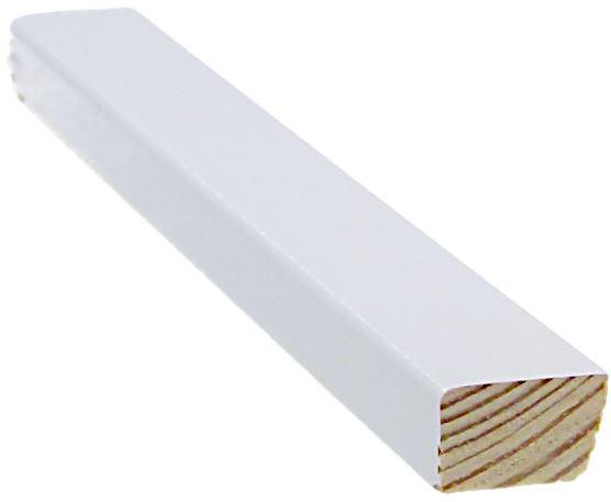 Mattolista 12x20x3300 mm valkoinen
