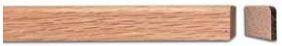 Mattolista tammi 12x16 mm lakattu