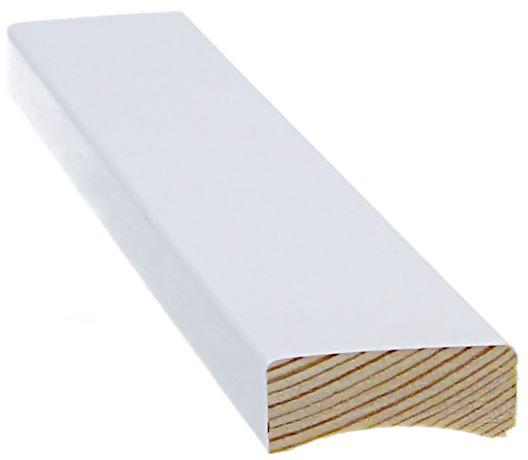 Peitelista 12x32x3300 mm valkoinen