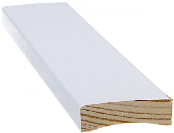 Peitelista 12x42x2200 mm valkoinen