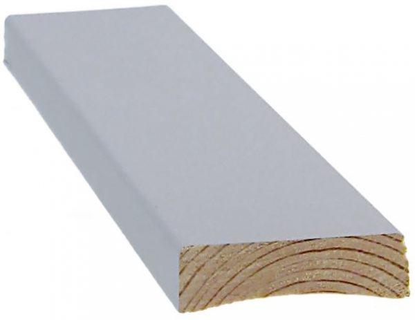 Peitelista 12x42x3300 mm peittomaalattu harmaa