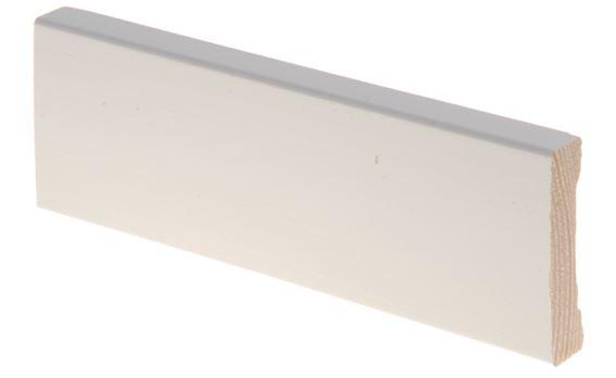 Peitelista 12x52x3300 mm Aava valkoinen