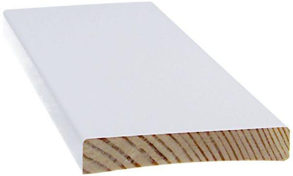 Peitelista 12x70x2200 mm valkoinen