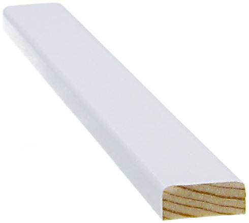 Peitelista 8x21x3300 mm valkoinen