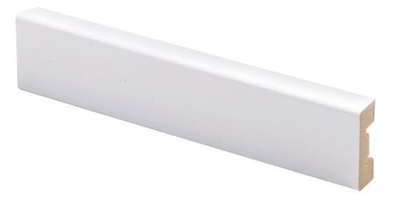 Peitelista MDF 12x32x2200 mm valkoinen