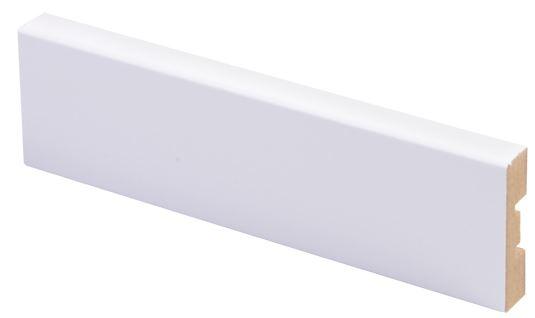 Peitelista MDF 12x42x2200 mm puhdas valkoinen