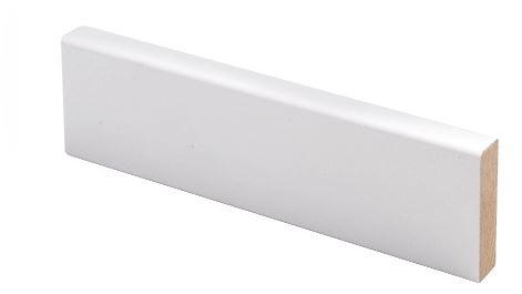 Peitelista MDF 12x42x2200 mm valkoinen