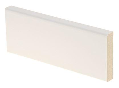 Peitelista MDF 12x58x2200 mm puhdas valkoinen