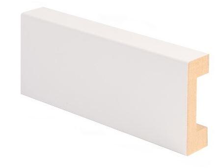 Peitelista MDF johtoura 19x58x2200 mm valkoinen
