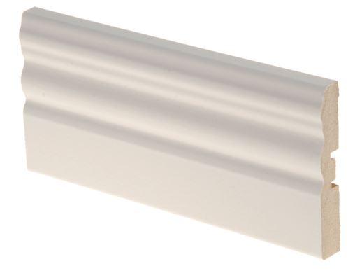 Peitelista MDF koriste 12x70x2200 mm Uurre valkoinen