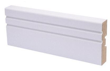 Peitelista MDF koriste 16x58x2200 mm Jana puhdas valkoinen