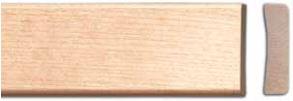Peitelista koivu 12x42 mm lakattu