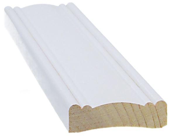 Peitelista koriste 12x42x3300 mm valkoinen