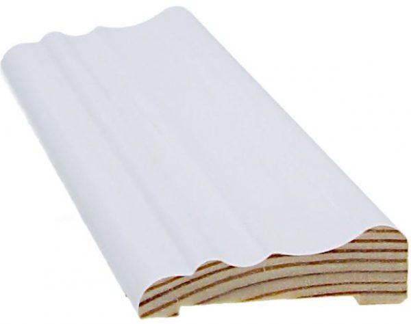 Peitelista koriste 15x52x3300 mm Sakkola valkoinen